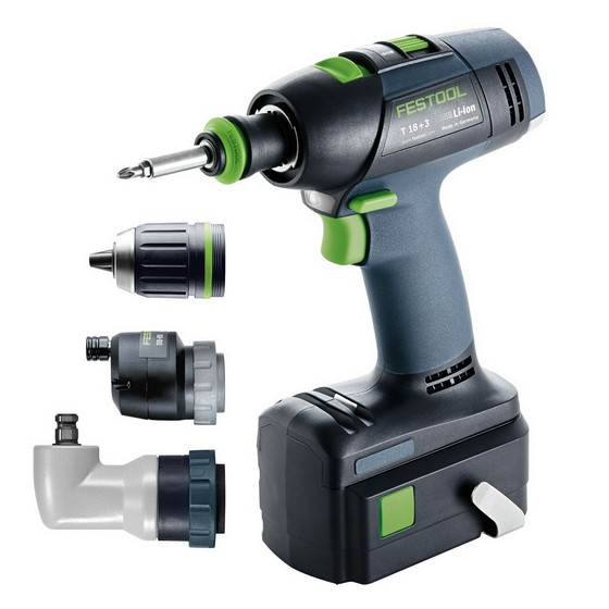 festool 564572 t18 3 18v drill driver with 2x li ion. Black Bedroom Furniture Sets. Home Design Ideas