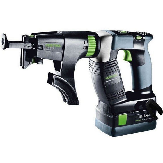 FESTOOL 564593 DRC18-4500 18V DRYWALL GUN WITH 2X4.2AH LI-ION BATTERIES
