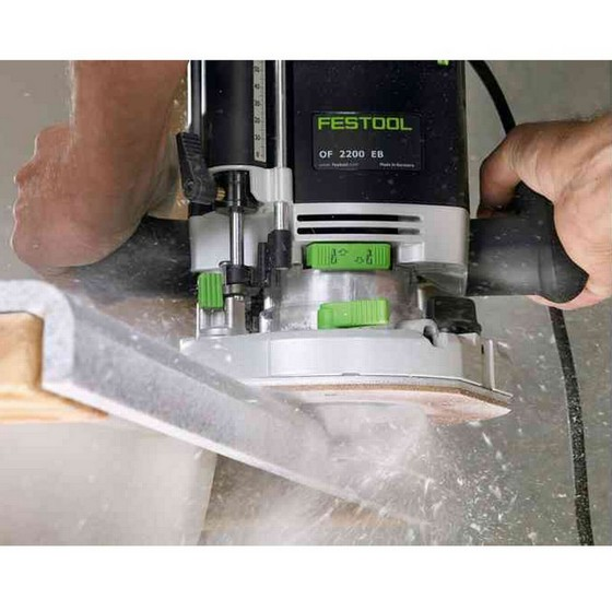 FESTOOL 574353 2200W OF2200EB-PLUS 1/2IN ROUTER 110V SUPPLIED IN T-LOC SYSTAINER CASE