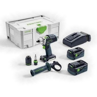 FESTOOL 574698 DRC18/4 LI PLUS GB 18V QUADRIVE DRILL DRIVER 2 X 5.2AH AIRSTREAM LI-ION BATTERIES SUPPLIED IN T-LOC CASE
