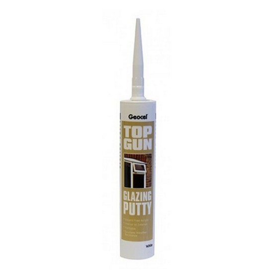 GEOCEL 2939860 TOP GUN GLAZING PUTTY WHITE 310ML TUBE