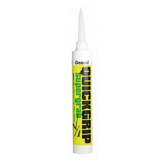 GEOCEL 2942691 QUICKGRIP SF MULTI PURPOSE SUPER GRAB GAP FILLING ADHESIVE SOLVENT FREE WHITE 380ML TUBE