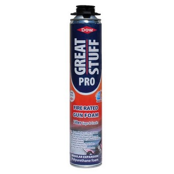GEOCEL 6001126 DOW GREAT STUFF PRO FIRE RATED GUN FOAM 750ML PINK