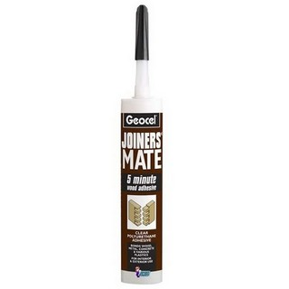 GEOCEL 6001560 JOINER MATE 5 MINUTE LIQUID WOOD ADHESIVE CLEAR 310ml TUBE