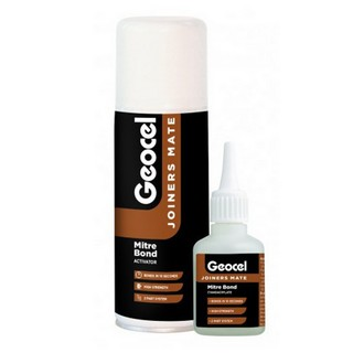 GEOCEL 6001568 2 PIECE JOINERS MATE MITRE BOND INSTANT BONDING SYSTEM 200ML