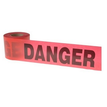 HANSON 16103 TAPE - DANGER RED 300FT