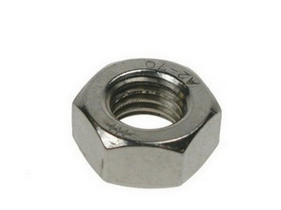 Hexagon Full Nuts M6 Bright Zinc Plated