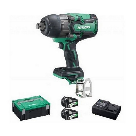 HIKOKI WR36DA/JRZ 36V MV IMPACT WRENCH IP56 1100NM 3/4 INCH DRIVE WITH 2X MV 2.5/5.0AH LI-ION BATTERIES