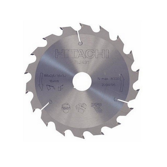 HITACHI 752431 SAW BLADE 185MM X 30MM X 18T
