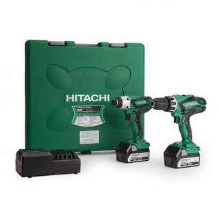 HITACHI KC18DGL/JE 18V COMBI HAMMER DRILL & IMPACT DRIVER TWIN PACK WITH 2X 5.0AH LI-ION BATTERIES