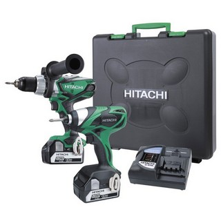 HITACHI KC18DKL/JB 18V TWIN PACK COMBI DRILL AND IMPACT DRIVER WITH 2X 5.0AH LI-ION BATTERIES