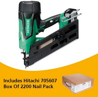 HITACHI NR1890DBCL/JP 18V BRUSHLESS 1ST FIX NAILER WITH 2X 5.0AH LI-ION BATTERIES
