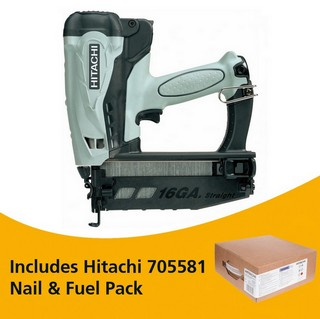 HITACHI NT65GS 3.6V 2ND FIX STRAIGHT BRAD NAILER 2X 1.5AH LI-ION BATTERIES