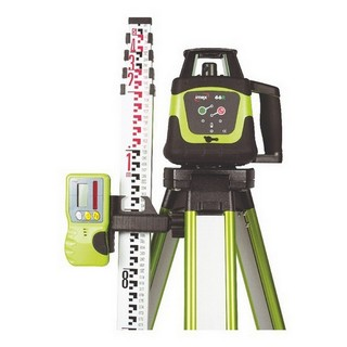 IMEX 66R LASER LEVEL KIT INCLUDES 5M METRE STAFF & FLAT TOP TRIPOD