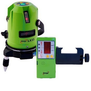 IMEX LX33D THREE LINE LASER WITH L2D LASER DETECTOR