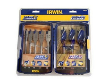 IRWIN 10507593 4X AND 6X BLUE GROOVE MIXED BIT 8 PIECE SET