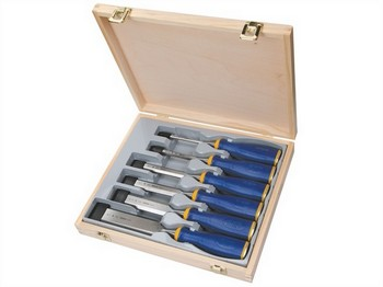 IRWIN MARPLES MARS500S6 6 PIECE ALL-PURPOSE CHISEL SET WITH PROTOUCH HANDLES SET