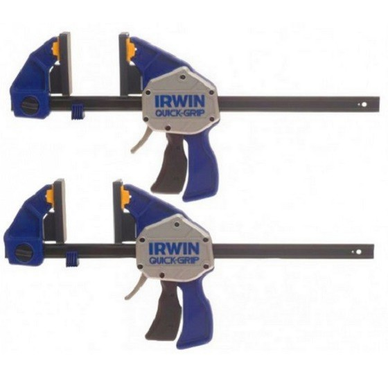 IRWIN Q/GXP6TWIN TWIN PACK OF XTREME PRESSURE ONE HANDED BAR CLAMPS 150MM