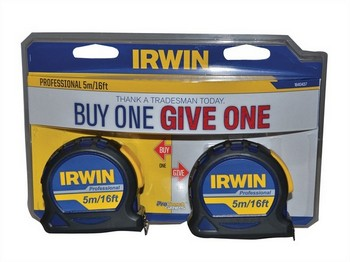 IRWN 1840437 PACK OF 2 PROFESSIONAL POCKET TAPE MEASURES 5M