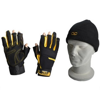 KUNY'S CLC FINGERLESS WORK GLOVES AND BEANIE HAT