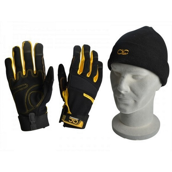 KUNYS XMS15GLOVES FLEXIBLE WORK GLOVES AND BEANIE HAT