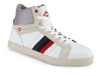 LEE COOPER LCSHOE055 SAFETY BOOTS WHITE (Size 8)