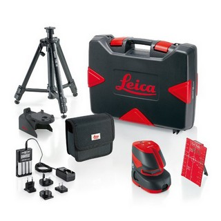 LEICA LINO L2P5 LINE LASER KIT WITH CASE AND TRIPOD