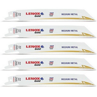 LENOX 21065810GR PACK OF 5 GOLD METAL RECIPROCATING SAW BLADES 19X203MM 10TPIX