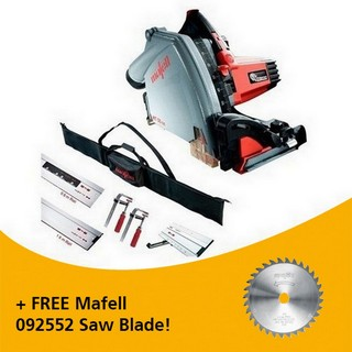 MAFELL 917632 MT55 1400W PLUNGE SAW KIT 230V WITH 1X 0.8M RAIL, 1X 1.6M RAIL, 1X BEVEL TRACK, 2X CLAMPS, 1X CONNECTOR & RAIL BAG