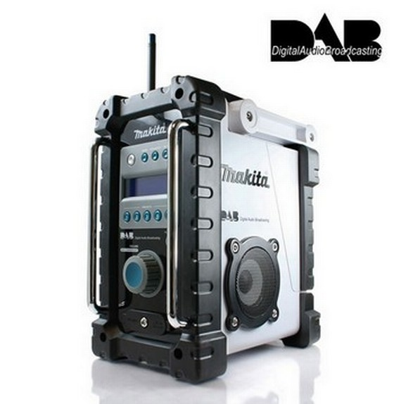 makita bmr101w dab white job site radio 240v anglia. Black Bedroom Furniture Sets. Home Design Ideas