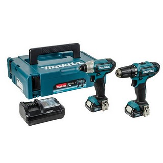 MAKITA CLX201AJ 10.8V DRILL DRIVER & IMPACT TWIN PACK WITH 2X 2.0AH BATTERIES