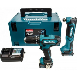 MAKITA CLX203AJX1 10.8V CXT COMBI & MULTI TOOL TWIN PACK 2X 2.0AH LI-ION BATTERIES