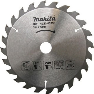 MAKITA D-03333 CIRCULAR SAW BLADE 165MM X 20MM X 24T