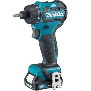MAKITA DF032DSAJ 10.8V BRUSHLESS CXT DRILL DRIVER WITH 2X 2.0AH L-ION