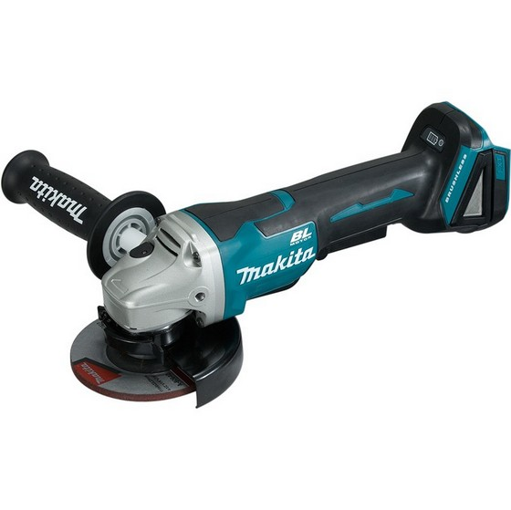 MAKITA DGA458ZX1 18V 115MM BRUSHLESS ANGLE GRINDER WITH PADDLE SWITCH (BODY ONLY) + 5 GRINDING DISCS