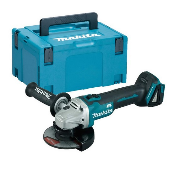 MAKITA DGA506ZX1 18V 125MM BRUSHLESS ANGLE GRINDER WITH SLIDE SWITCH (BODY ONLY) + 5 GRINDING DISCS