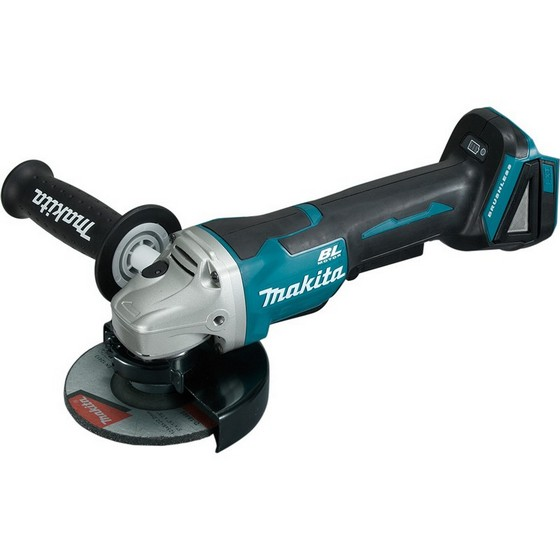 MAKITA DGA508ZX1 18V 125MM BRUSHLESS ANGLE GRINDER WITH PADDLE SWITCH (BODY ONLY) + 5 GRINDING DISCS