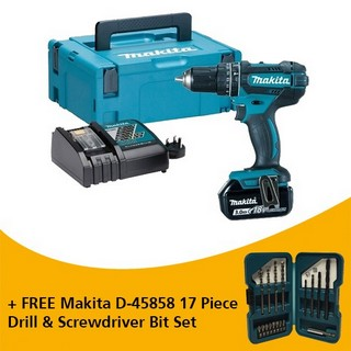 MAKITA DHP482RFJ 18V COMBI HAMMER DRILL WITH 1X 3.0AH LI-ION BATTERY SUPPLIED IN MAKPAC CASE