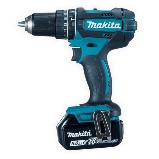 MAKITA DHP482RTJ 18V COMBI HAMMER DRILL WITH 2X 5.0AH LI-ION BATTERIES SUPPLIED IN MAKPAC CASE