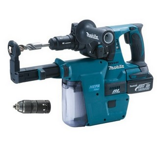 MAKITA DHR243RMJV 18V BRUSHLESS SDS HAMMER DRILL & DUST EXTRACTION WITH 2X4.0AH LI-ION BATTERIES