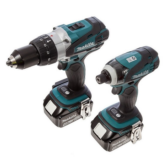 makita dlx2145mj 18v combi drill and impact driver twin. Black Bedroom Furniture Sets. Home Design Ideas