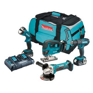 MAKITA DLX4051PM 18V 4 PIECE KIT WITH 3X 4.0AH LI-ION BATTERIES