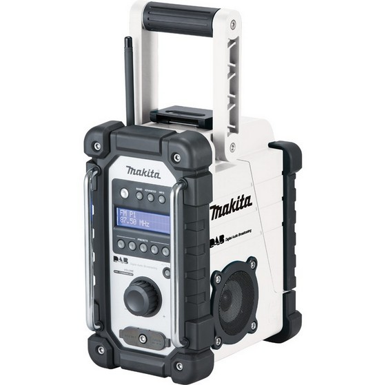 makita dmr109w dab site radio white 240v. Black Bedroom Furniture Sets. Home Design Ideas