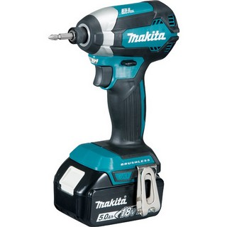 MAKITA DTD153RTJ 18V BRUSHLESS IMPACT DRIVER WITH 2 X 5.0AH LI-ION BATTERIES SUPPLIED IN MAKPAC CASE