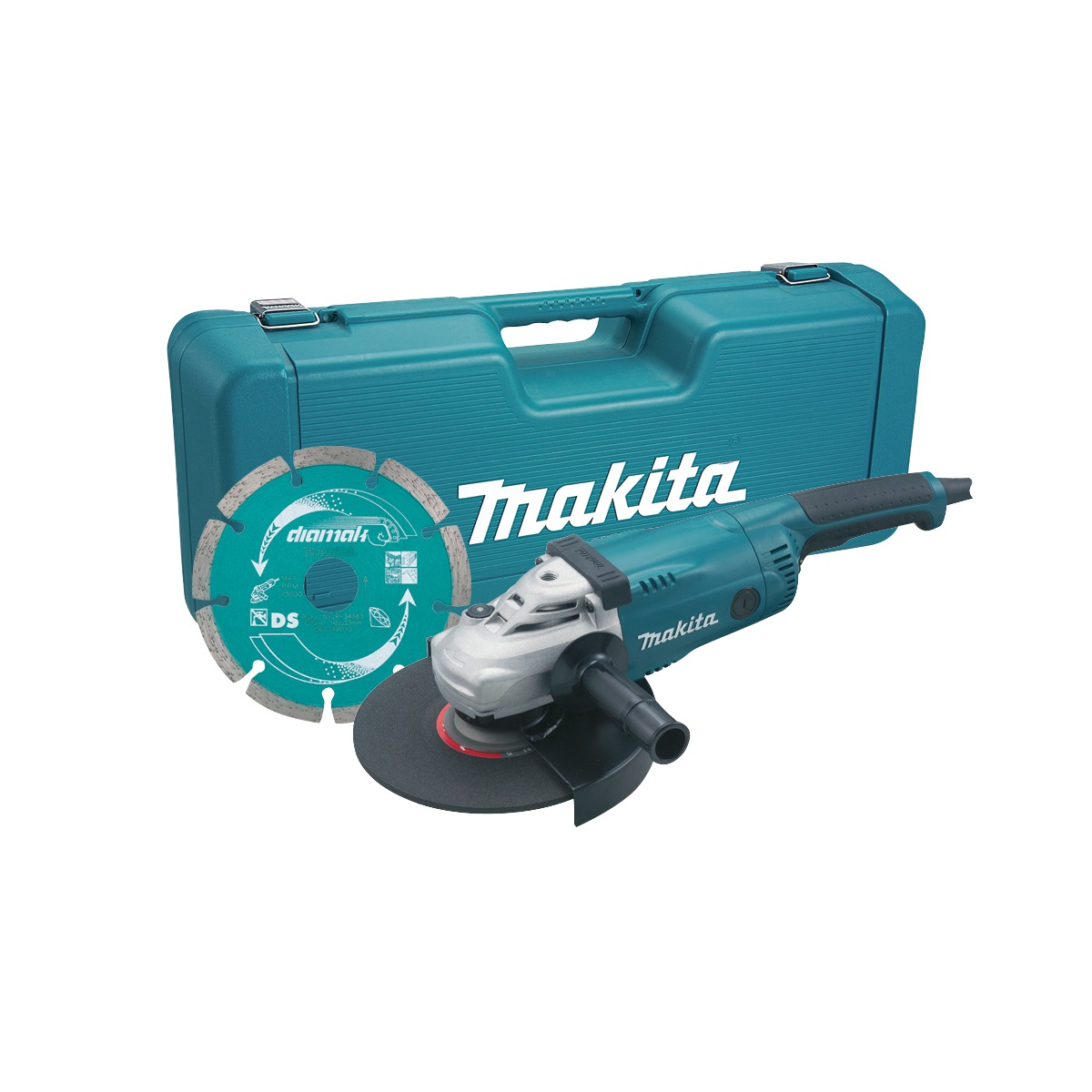 MAKITA GA9020KD 230MM ANGLE GRINDER 240V WITH CASE & DIAMOND DISC