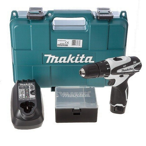 MAKITA HP330DWWX2 10.8V COMBI DRILL WITH 1X 1.3AH LI-ION BATTERY