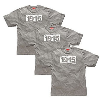 MAKITA MW600 CROSSLINE T-SHIRT GREY (PACK OF 3)