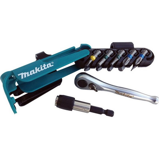 MAKITA P-79142 12 PIECE SCREWDRIVER SET WITH BIT HOLDER AND RATCHET SOCKET DRIVE UNIT
