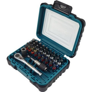 MAKITA P-79158 39 PIECE SCREW DRIVER BIT SET WITH RATCHET DRIVE SOCKET & LOCKING BIT HOLDER