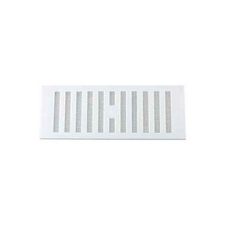 MAP HARDWARE 903-02 ADJUSTABLE HIT AND MISS VENT WITH FLYSCREEN 76X229MM WHITE